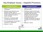 key employer issues impactful provisions