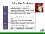 other key provisions