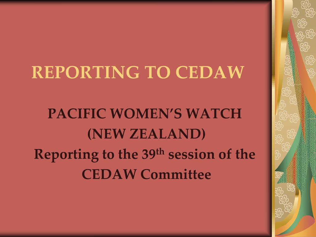 reporting to cedaw l.