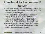 likelihood to recommend return