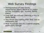web survey findings