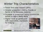 winter trip characteristics
