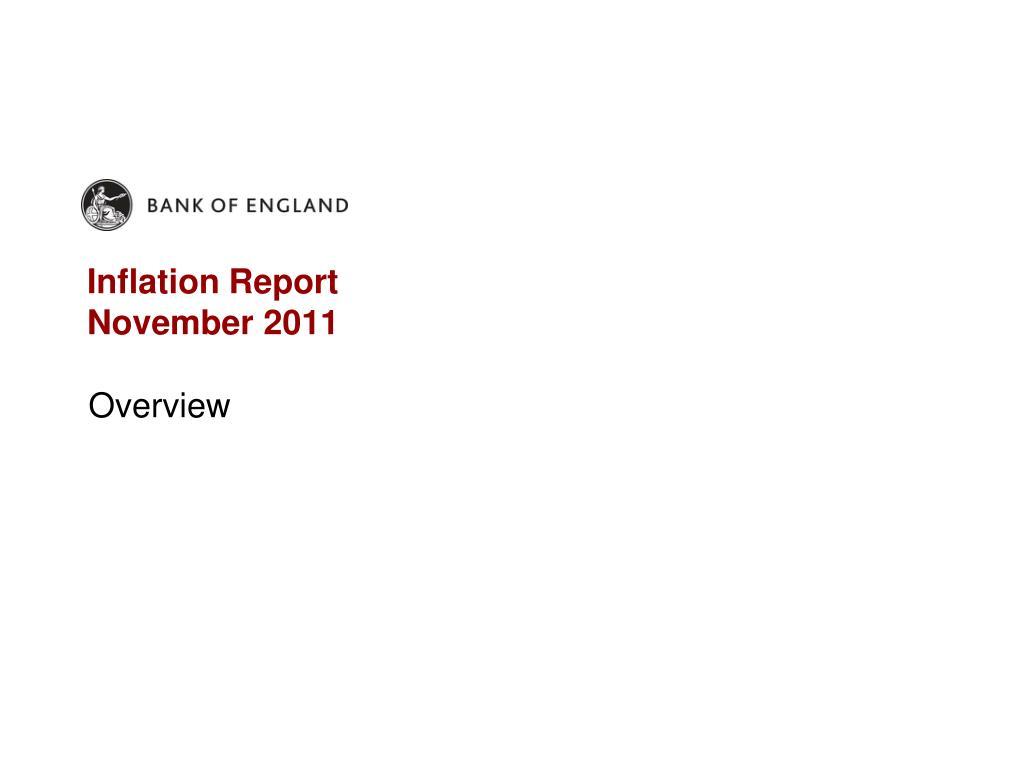 inflation report november 2011 l.