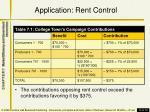 application rent control