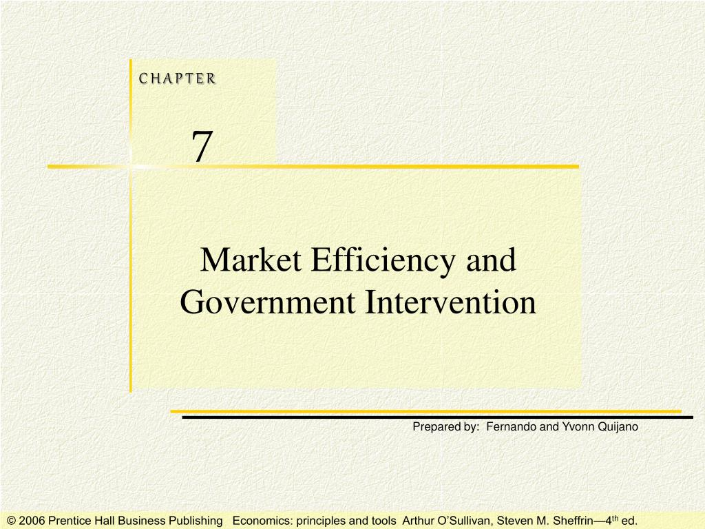 market efficiency and government intervention l.