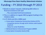 funding fy 2010 through fy 2013