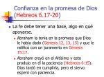 confianza en la promesa de dios hebreos 6 17 2052
