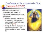 confianza en la promesa de dios hebreos 6 17 2053
