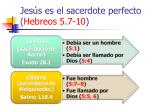 jes s es el sacerdote perfecto hebreos 5 7 1026