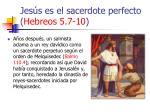 jes s es el sacerdote perfecto hebreos 5 7 1029
