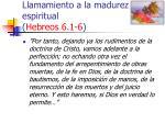 llamamiento a la madurez espiritual hebreos 6 1 633