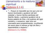 llamamiento a la madurez espiritual hebreos 6 1 634