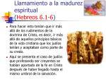 llamamiento a la madurez espiritual hebreos 6 1 636