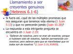 llamamiento a ser creyentes genuinos hebreos 6 1 643