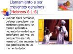 llamamiento a ser creyentes genuinos hebreos 6 1 644