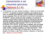 llamamiento a ser creyentes genuinos hebreos 6 1 647