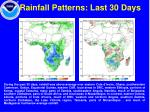 rainfall patterns last 30 days