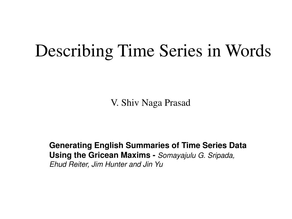 describing time series in words l.
