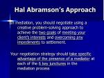 hal abramson s approach