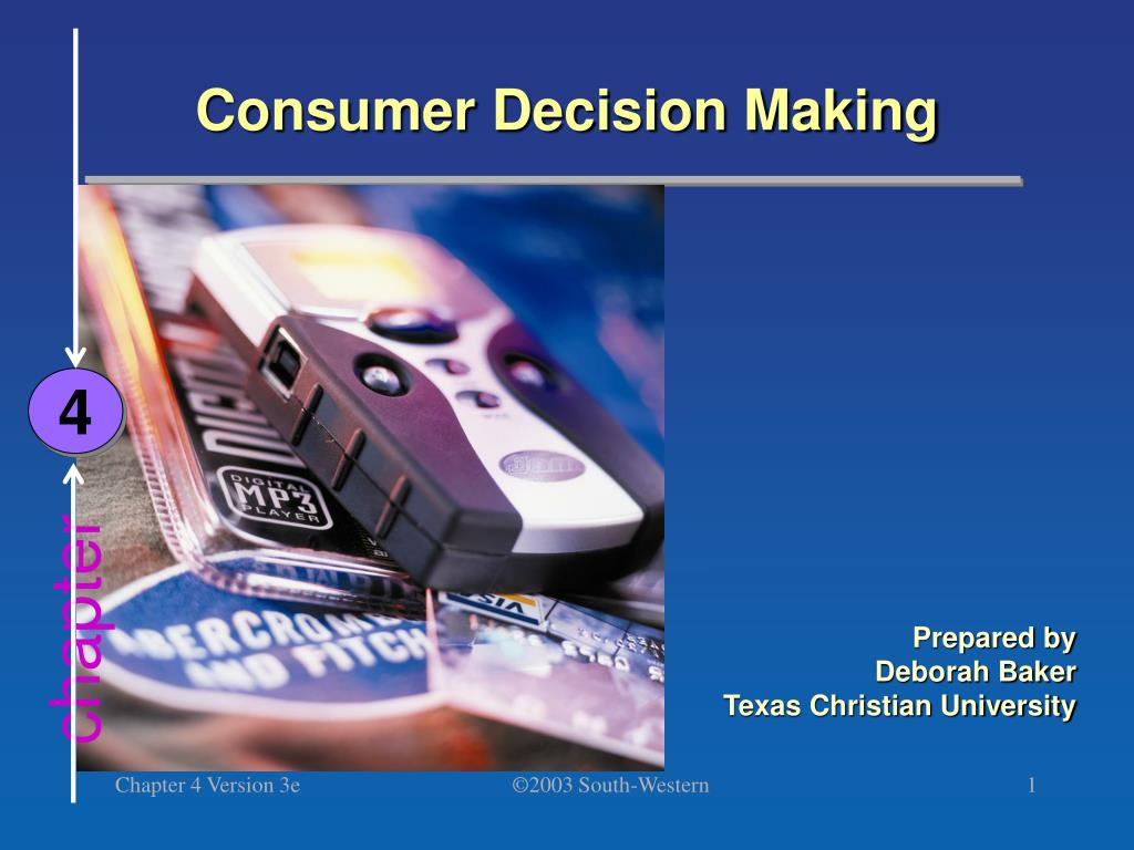 consumer decision making l.
