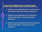 learning objectives continued4