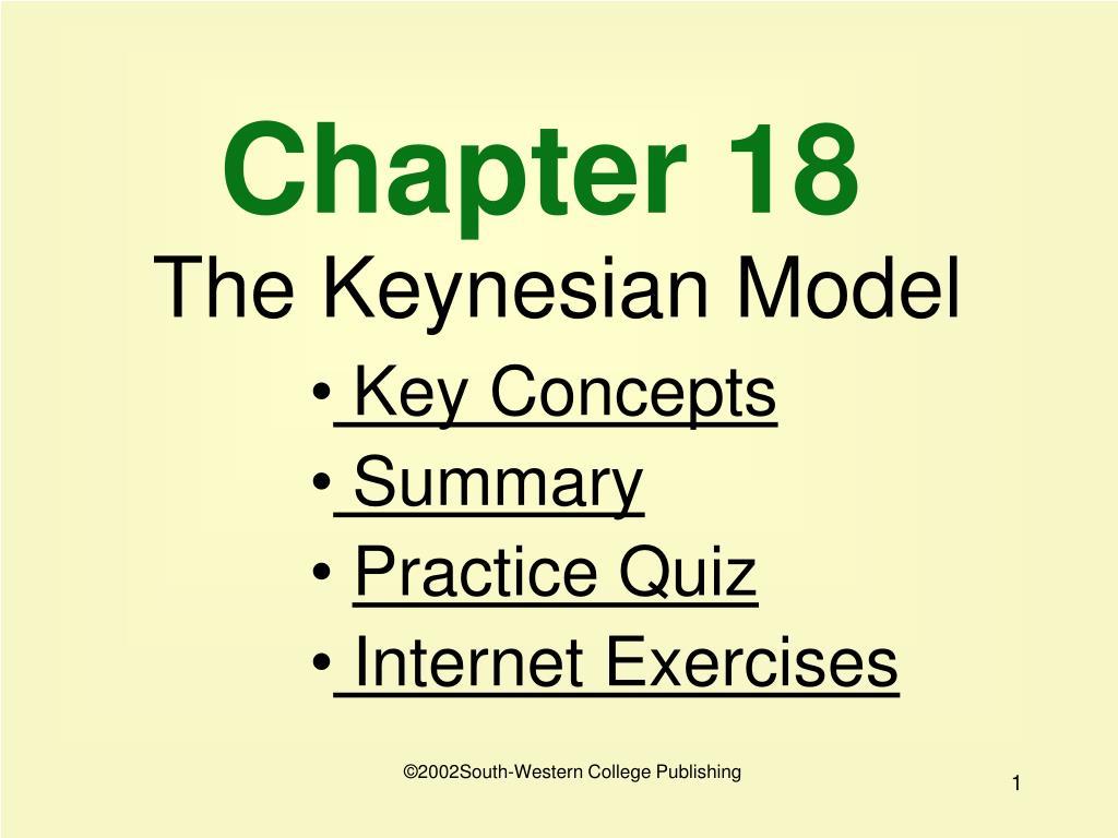 chapter 18 the keynesian model l.