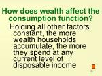 how does wealth affect the consumption function
