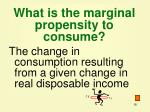 what is the marginal propensity to consume