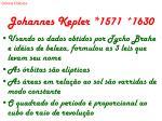 johannes kepler 1571 1630