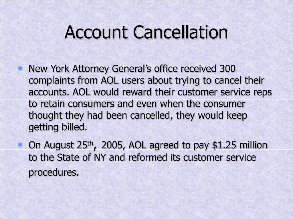Account Cancellation