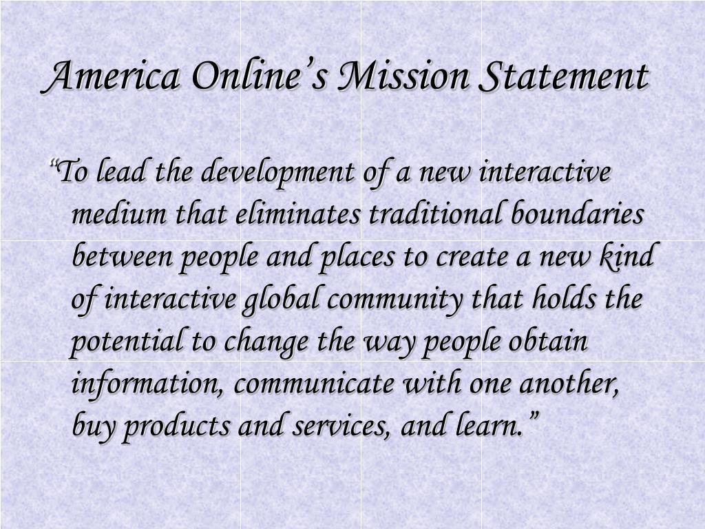 America Online's Mission Statement