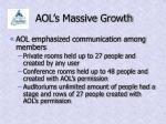 aol s massive growth