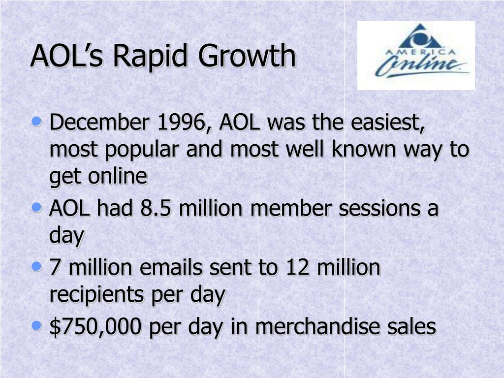 AOL's Rapid Growth