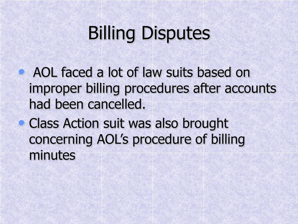 Billing Disputes