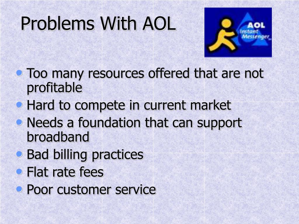Problems With AOL