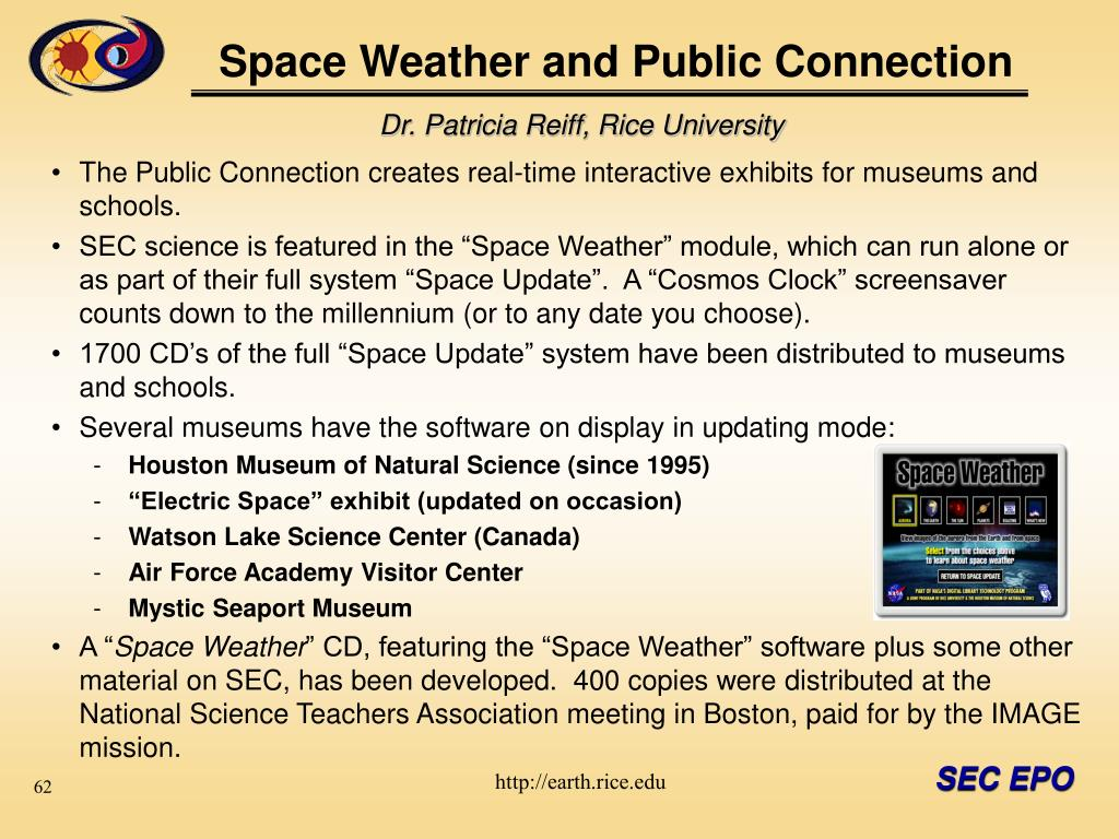 space weather and public connection l.