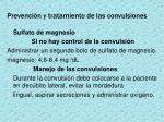 prevenci n y tratamiento de las convulsiones