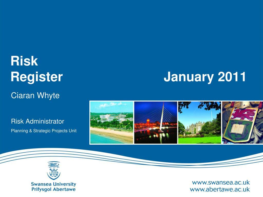 risk register january 2011 l.