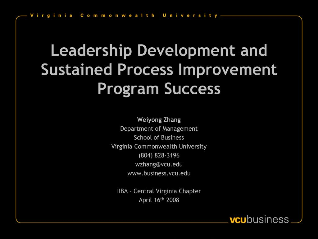 leadership development and sustained process improvement program success l.