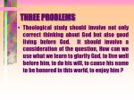 three problems4