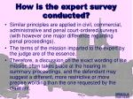 how is the expert survey conducted