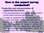 how is the expert survey conducted14