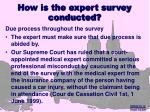 how is the expert survey conducted18