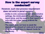 how is the expert survey conducted19
