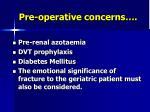 pre operative concerns15