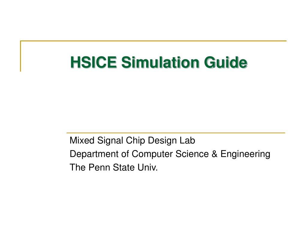 hsice simulation guide l.