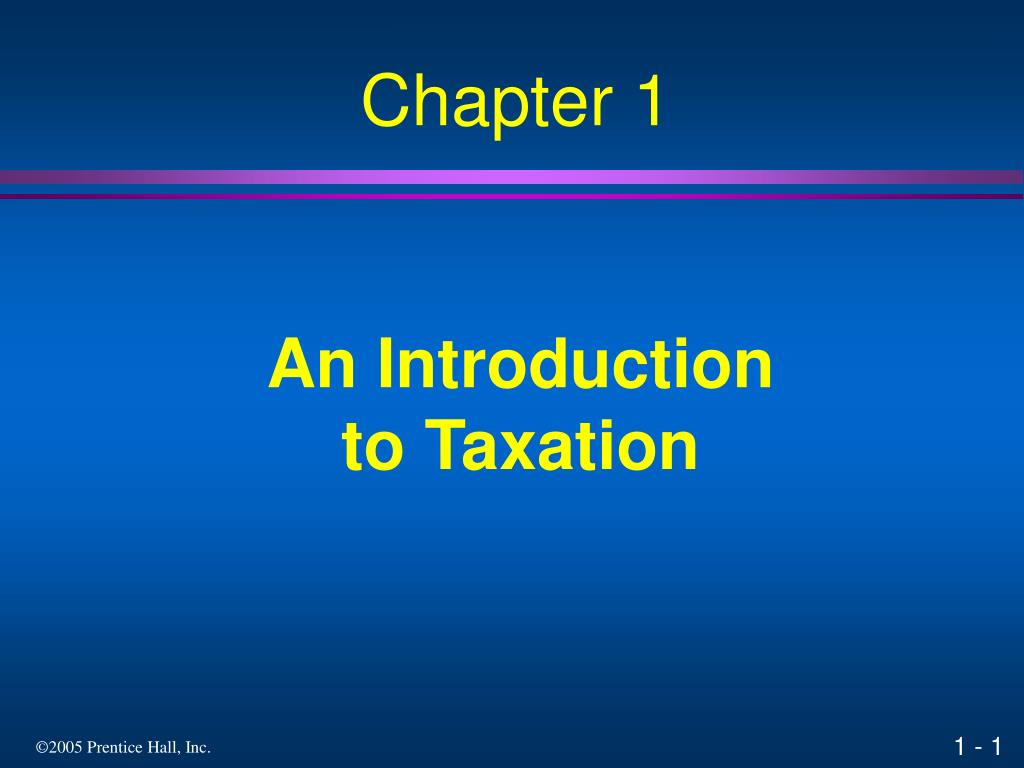 an introduction to taxation l.