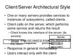 client server architectural style