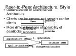 peer to peer architectural style