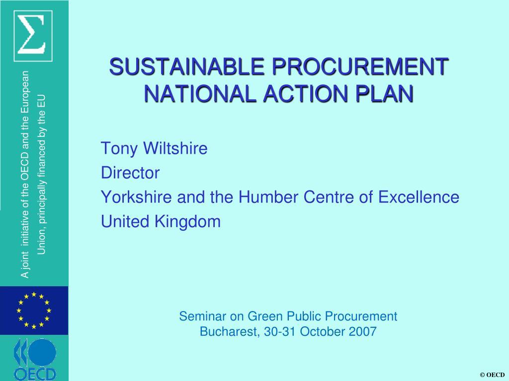 sustainable procurement national action plan l.
